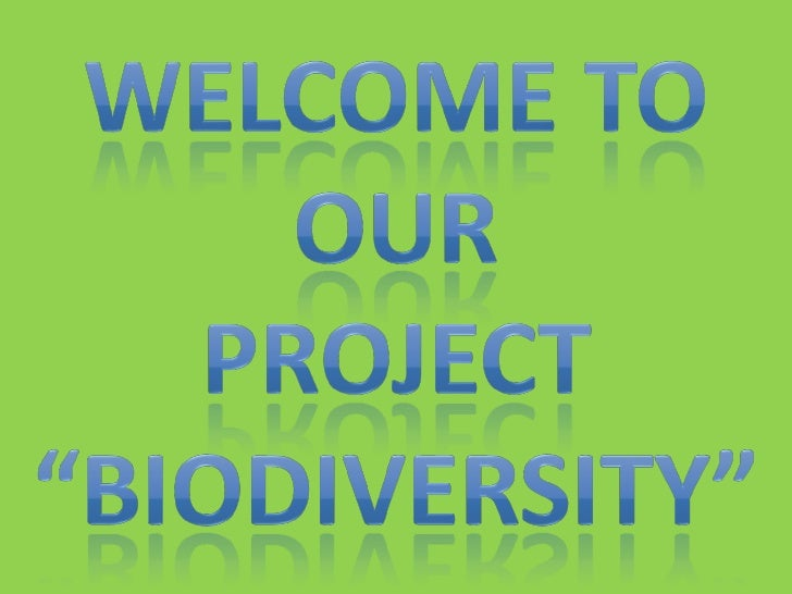 Biodiversityis the degree of variation of life forms within a given species,ecosystem, biome, or an entire planet. Biodiv...