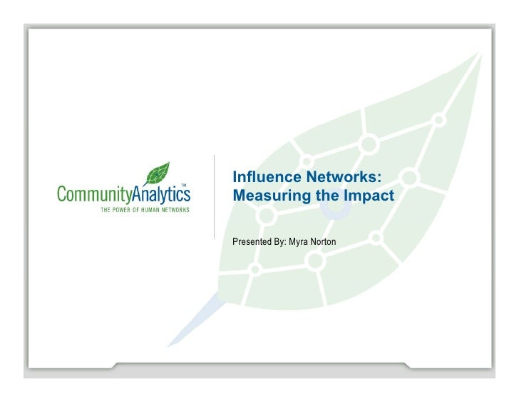 Myra Norton, Community Analytics