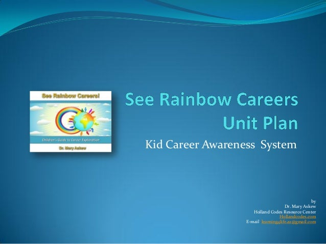 Kid Career Awareness System                                                   by                                      Dr. ...
