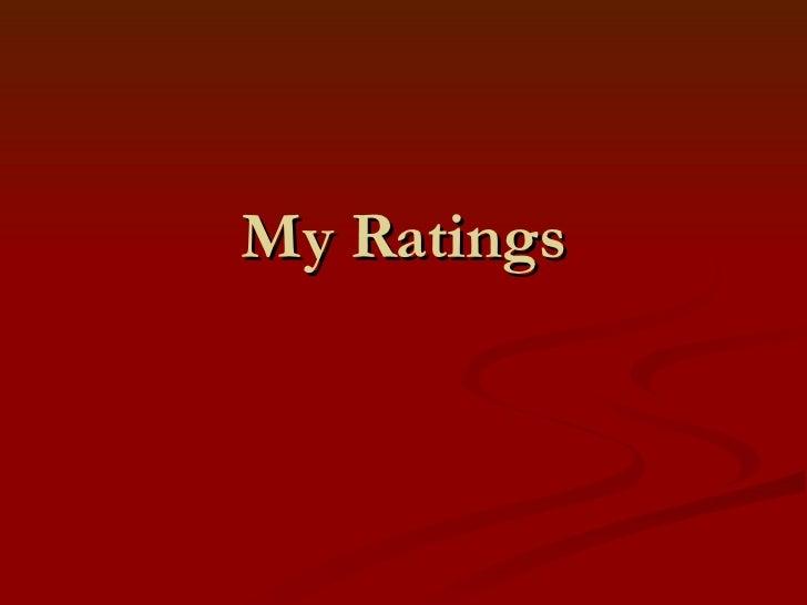 My Ratings