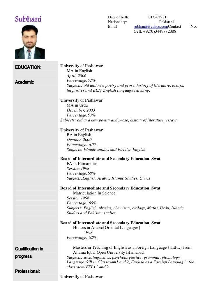 sample resume for english teacher english teacher resume sample ...