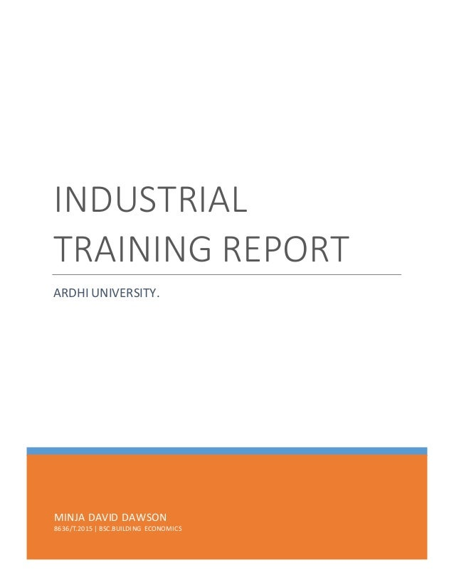 induatrial training report