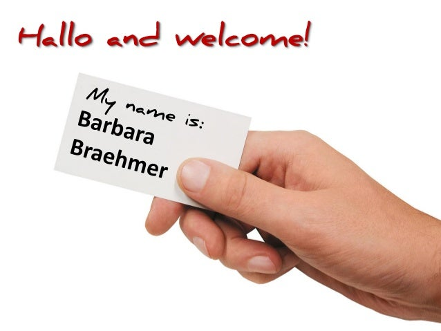 Hallo and welcome!