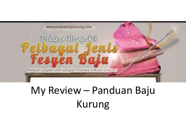 My Review - Panduan Jahit Baju Kurung