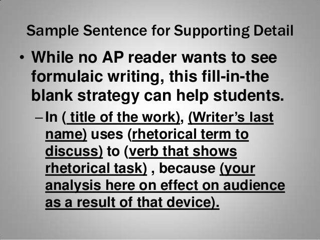Professional School Rhetorical Analysis Essay Advice