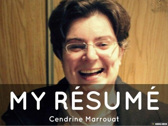 My résumé