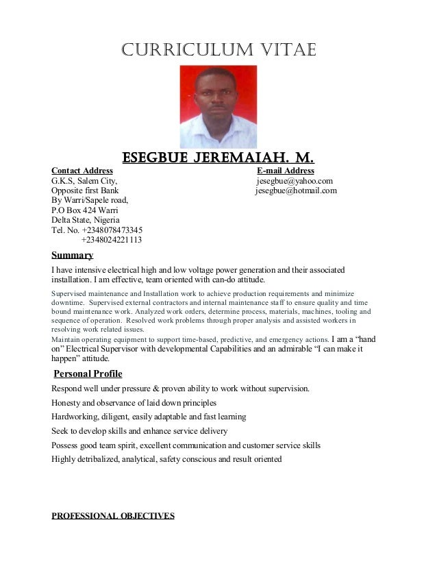 electrical supervisor technician electrician