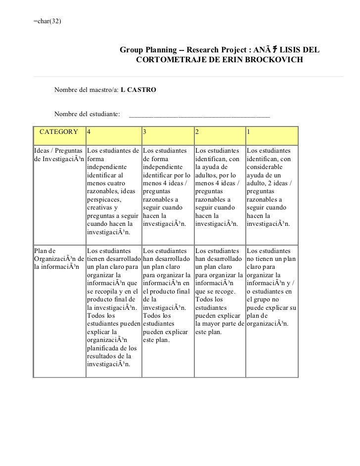 =char(32)                             Group Planning -- Research Project : ANÃ チ LISIS DEL                                ...