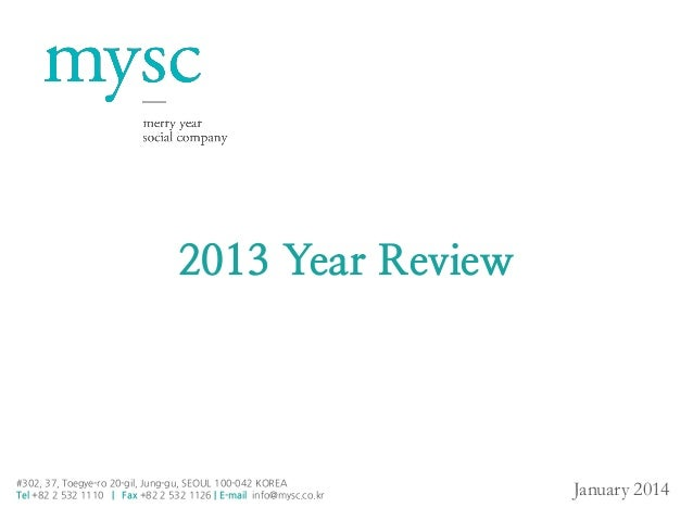 Annual Review of MYSC 2013