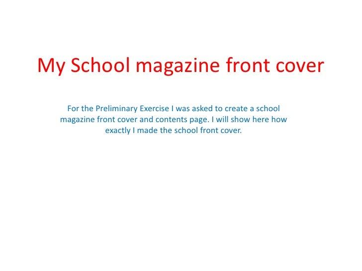 My school magazine front cover