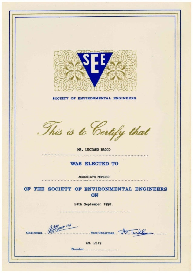 My see am membership certificate, 1990