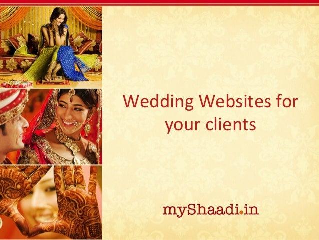 Your wedding website partner - myShaadi.in
