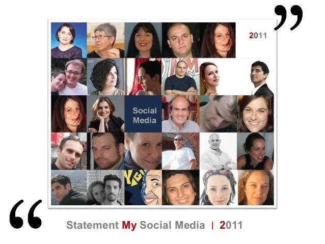 My Social Media Statement  2011