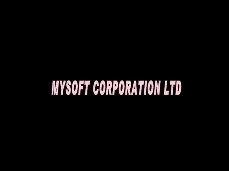 Company MYSOFT CORPORATION LTD