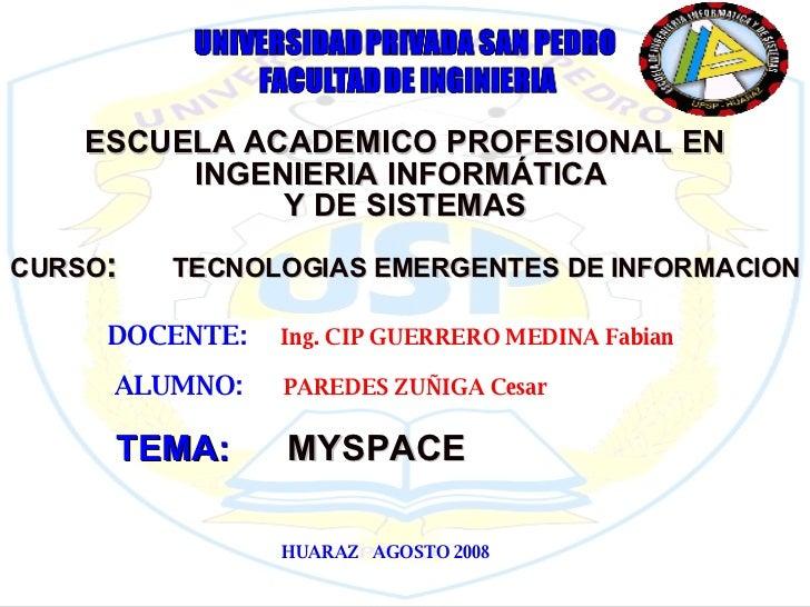 ESCUELA ACADEMICO PROFESIONAL EN INGENIERIA INFORMÁTICA  Y DE SISTEMAS CURSO :  TECNOLOGIAS EMERGENTES DE INFORMACION DOCE...