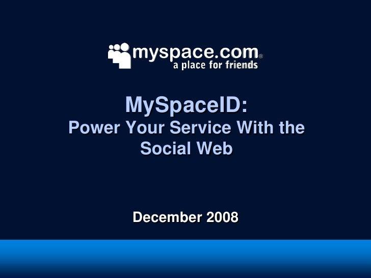 MySpace Open Platform