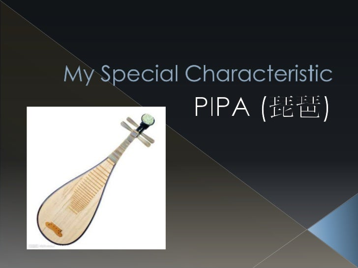 My Special Characteristic<br />PIPA (琵琶)<br />