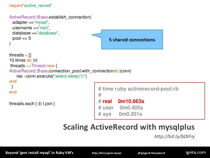 Beyond 'gem install MySQL' in Ruby
