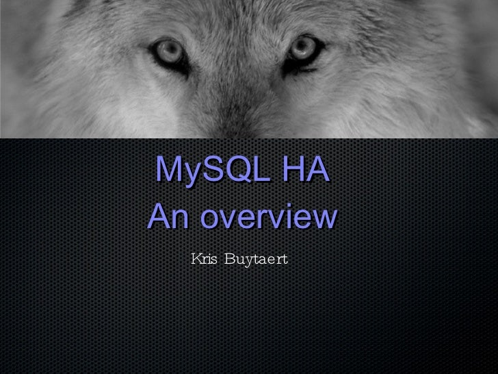 MySQL  HA  Alternatives 2010