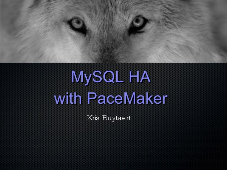 MySQL HA with  PaceMaker