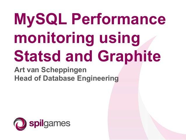 MySQL Performance monitoring using Statsd and Graphite Art van Scheppingen Head of Database Engineering