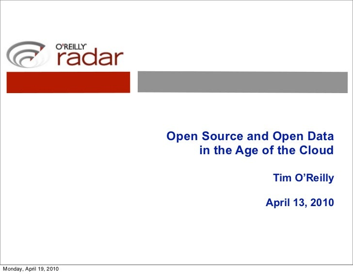 Open Source and Open Data in the Age of the Cloud