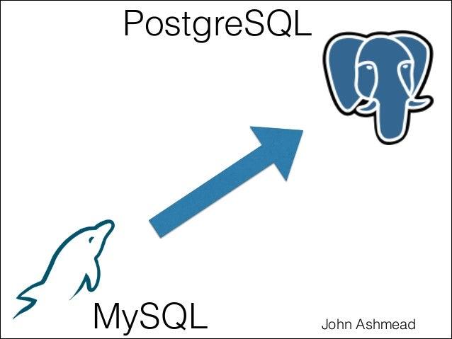 PostgreSQL John AshmeadMySQL
