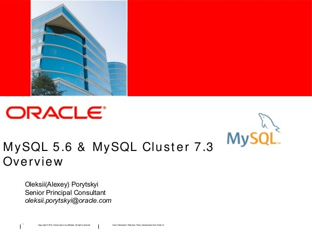 My sql 5.6&MySQL Cluster 7.3