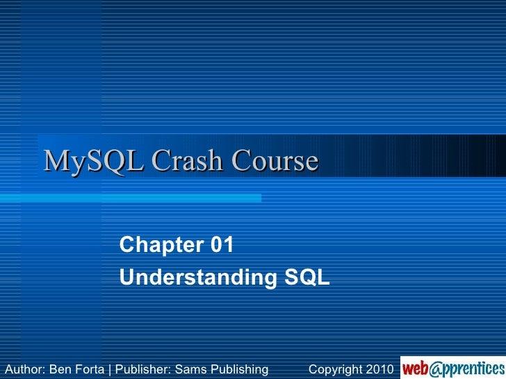 MySQL Crash Course, Chapter 1