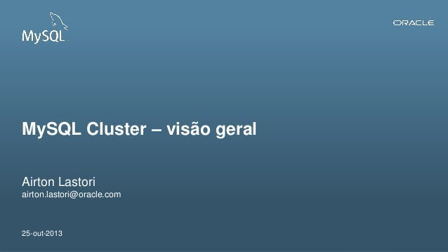 MySQL Cluster - visão geral
