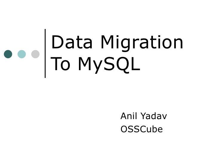 My Sql Data Migration