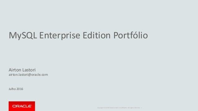 MySQL Enterprise Edition Portfolio