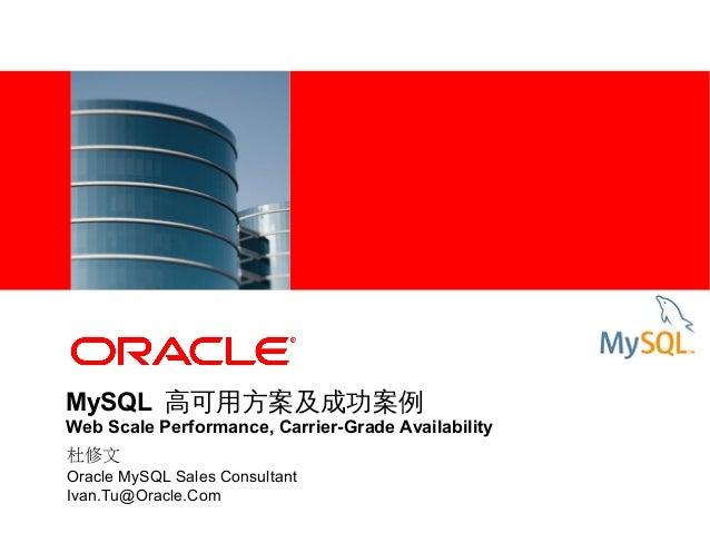 MySQL 高可用方案及成功案例