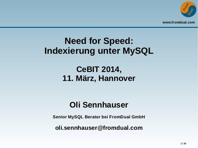 MySQL Indexierung CeBIT 2014