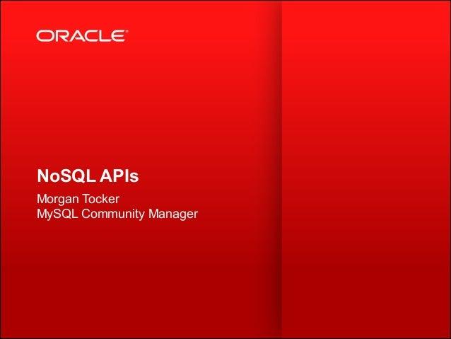 MySQL NoSQL APIs
