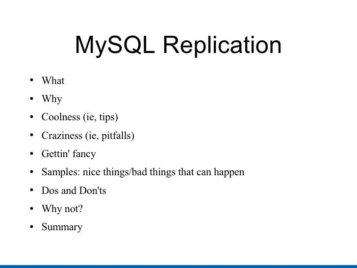 Mysql Replication 4 Idiots