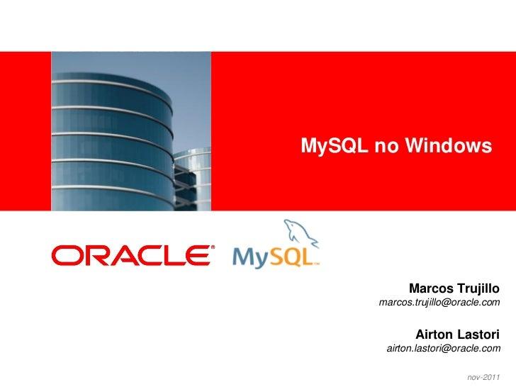 MySQL no Windows