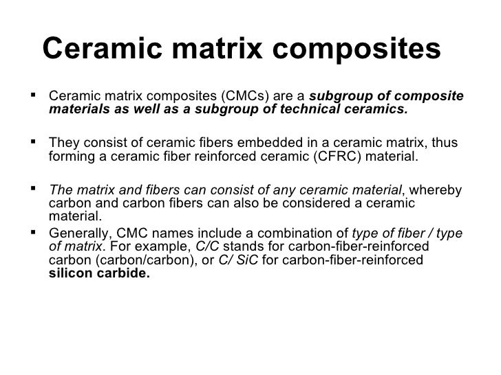 Ceramic Matrix Composite : Textile composites and its application