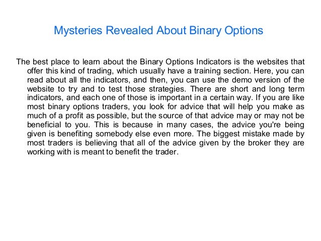 Binary options the best