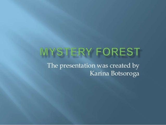 The presentation was created by               Karina Botsoroga