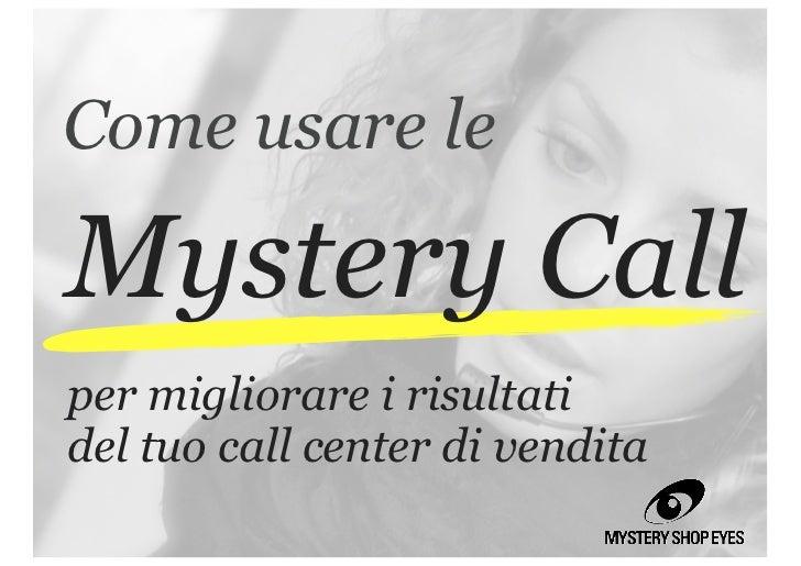 Mystery Call per le vendite