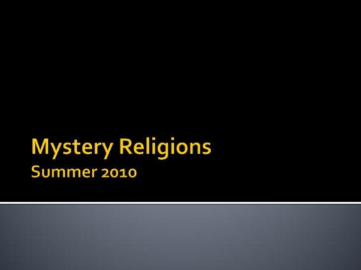 What was religious experience  prior to organized religion?