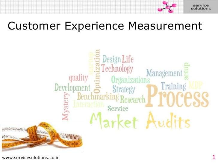 Customer Experience Measurement<br />
