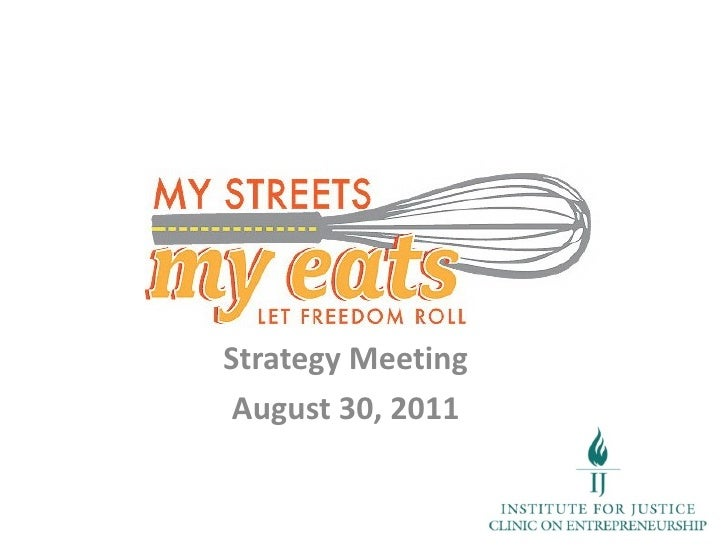Strategy Meeting August 30, 2011