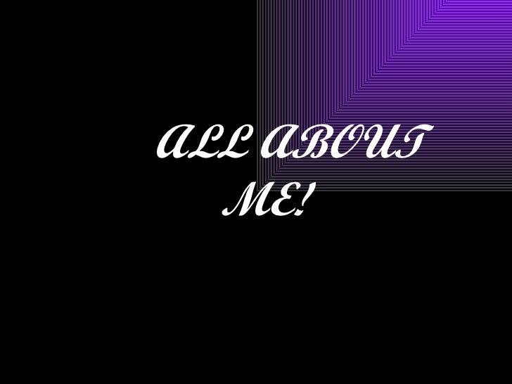 all about me (jacqui aiono)