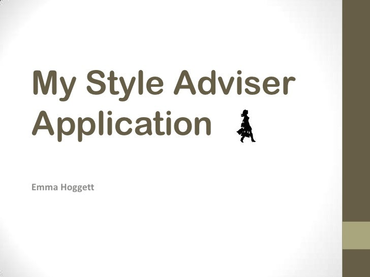 My Style AdviserApplicationEmma Hoggett