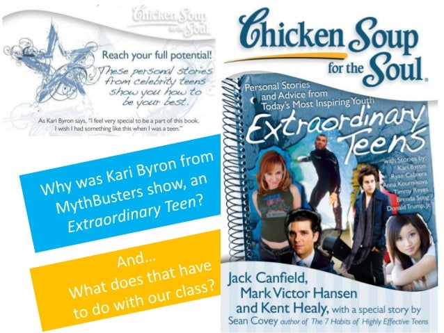 Mythbusters' Kari Byron with Life Lessons in Chicken Soup for the Soul & On Motherhood