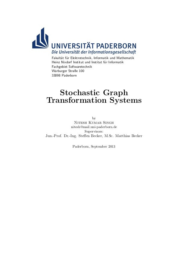Stochastic Graph Transformation Systems