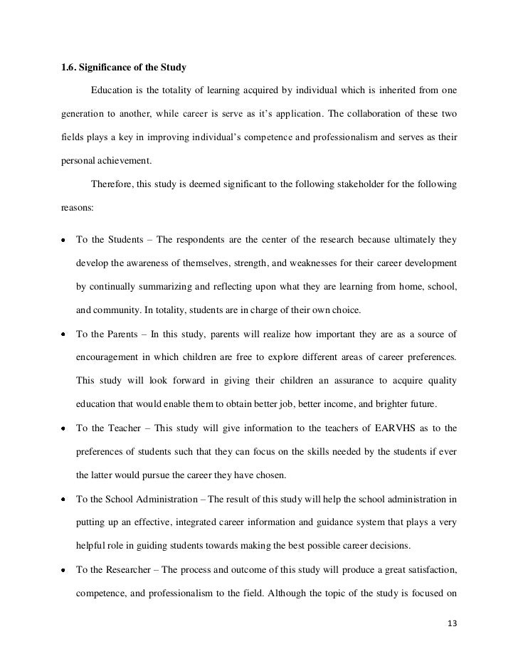 Thesis on evaluation of guidance services