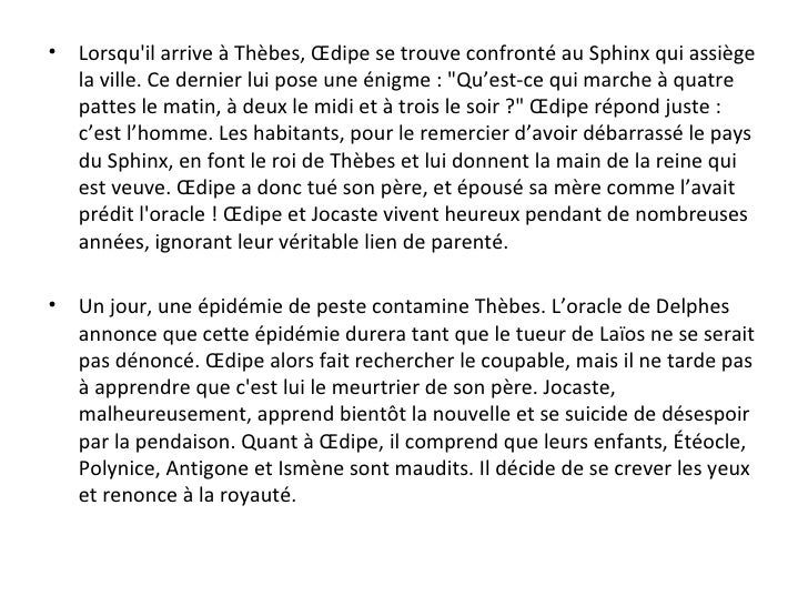 rencontre oedipe sphinx Angoulême